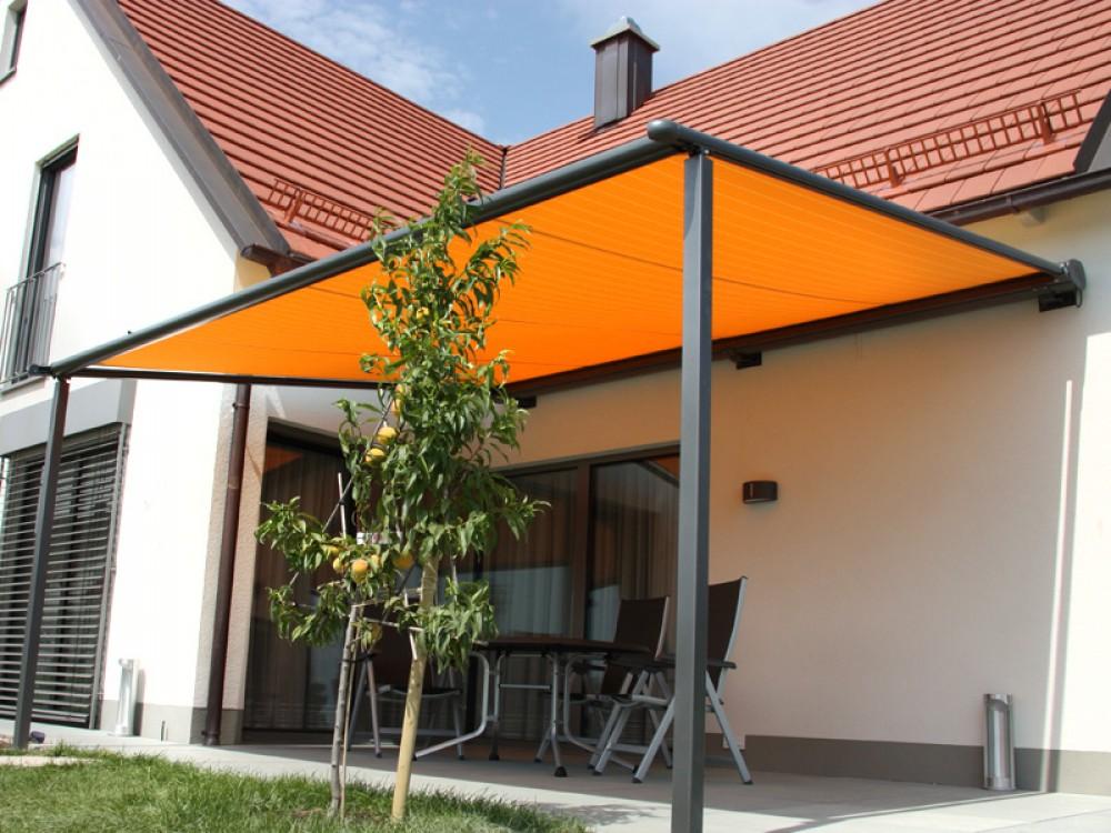 Textiel dak zonwering van der zalm